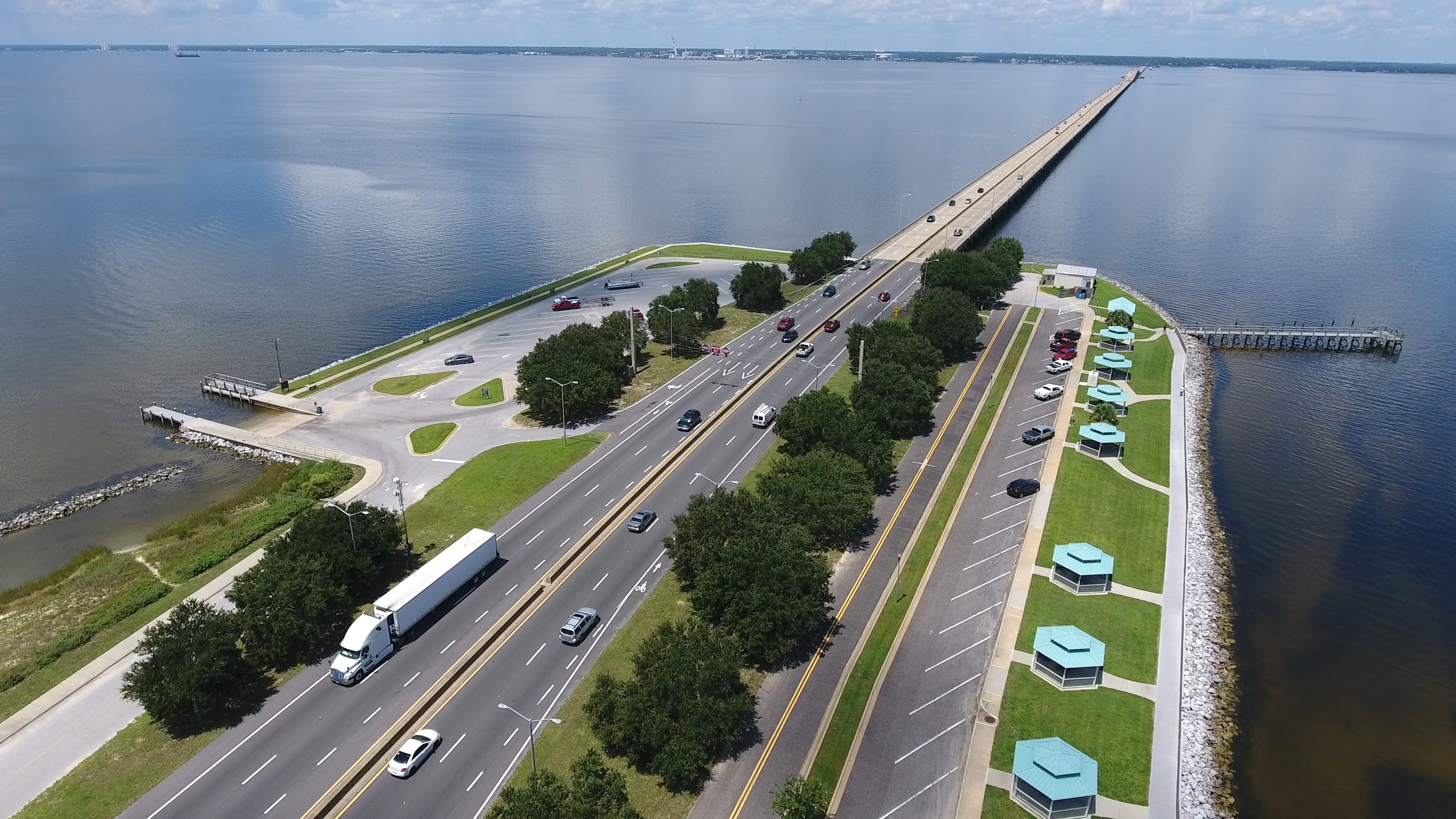Wayside Parks Closing for  Pensacola Bay Bridge Construction