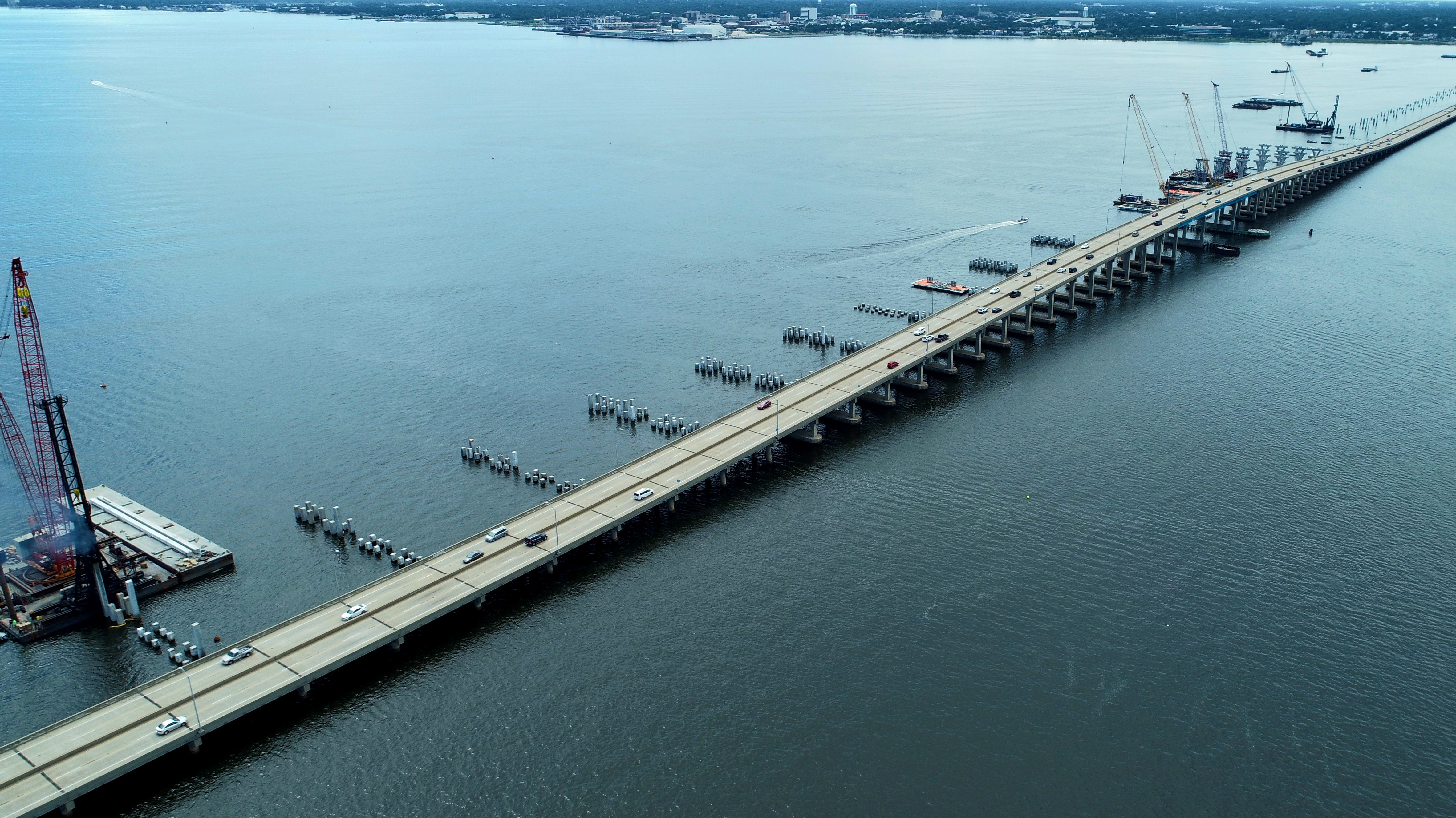 Pensacola Bay Bridge project reaches construction milestone