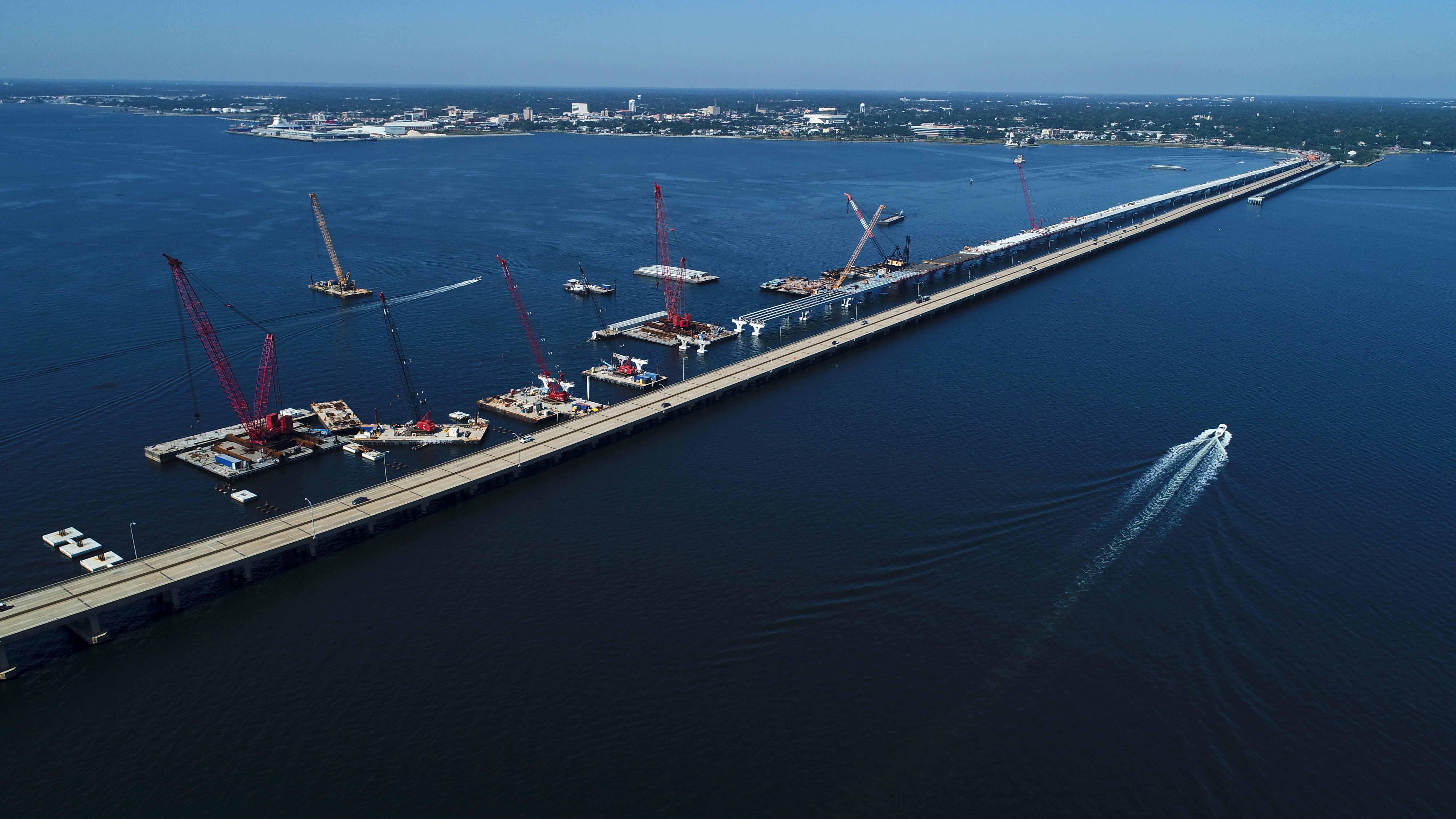 "Cranes do the ""heavy lifting"" for bridge project"