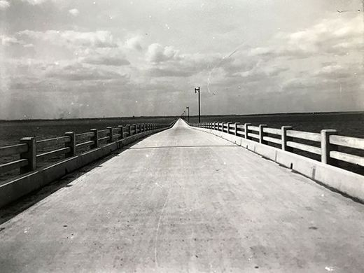 Local newspaper looks back at construction of the first bridge across Pensacola Bay