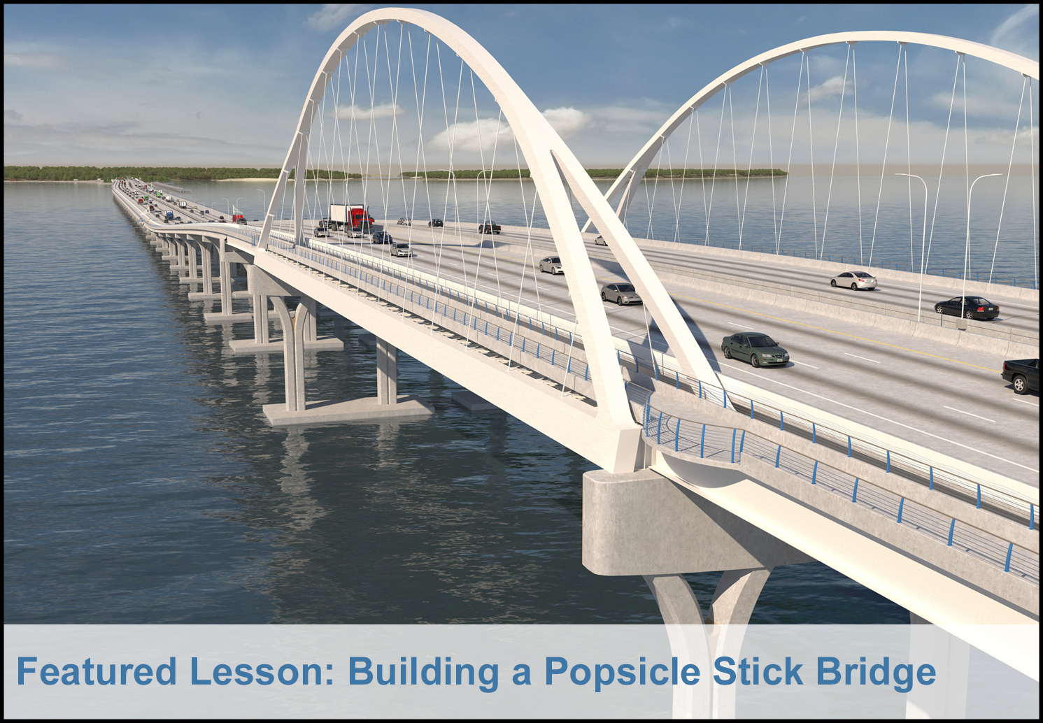 April Feature: Building a Popsicle Stick Bridge