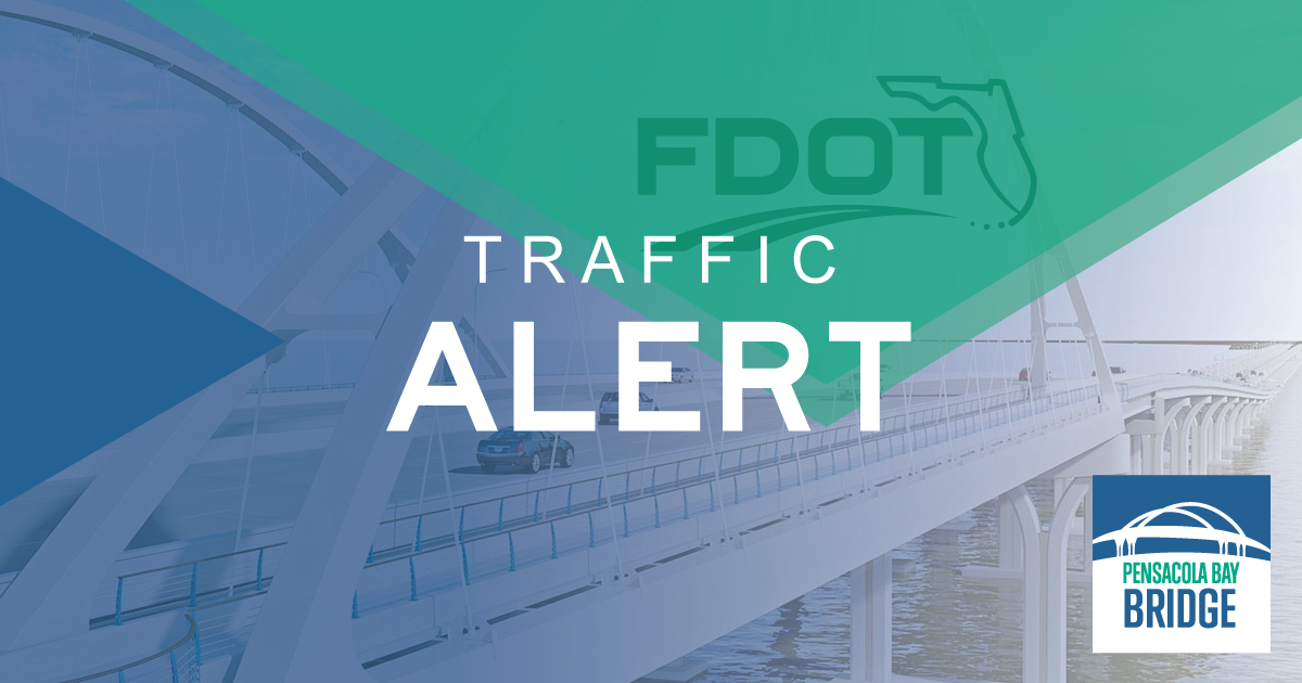 The Pensacola Bay Bridge is currently closed to all traffic