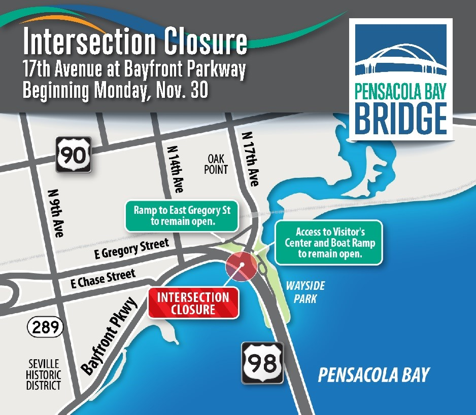 Intersection closure planned for North 17th Avenue and Bayfront Parkway