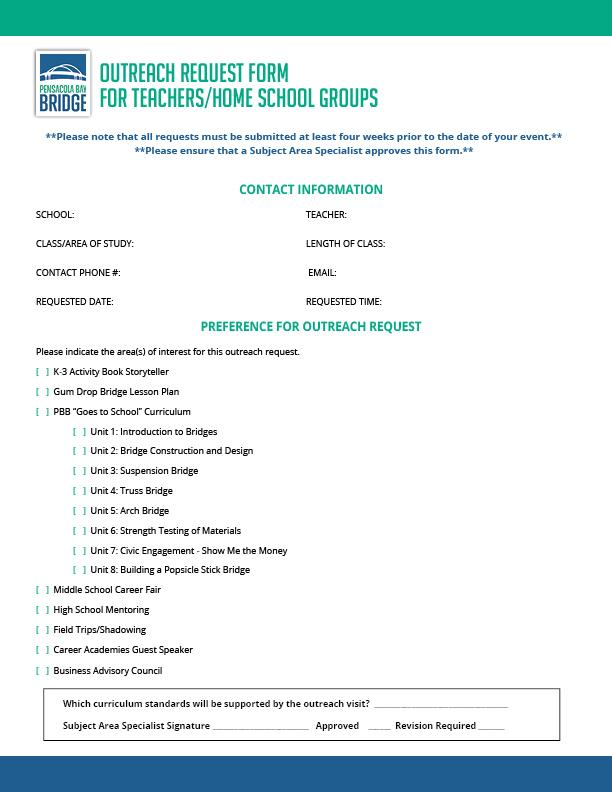 Teacher Outreach Form