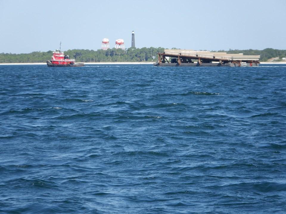 Bridge demolition and disposal underway