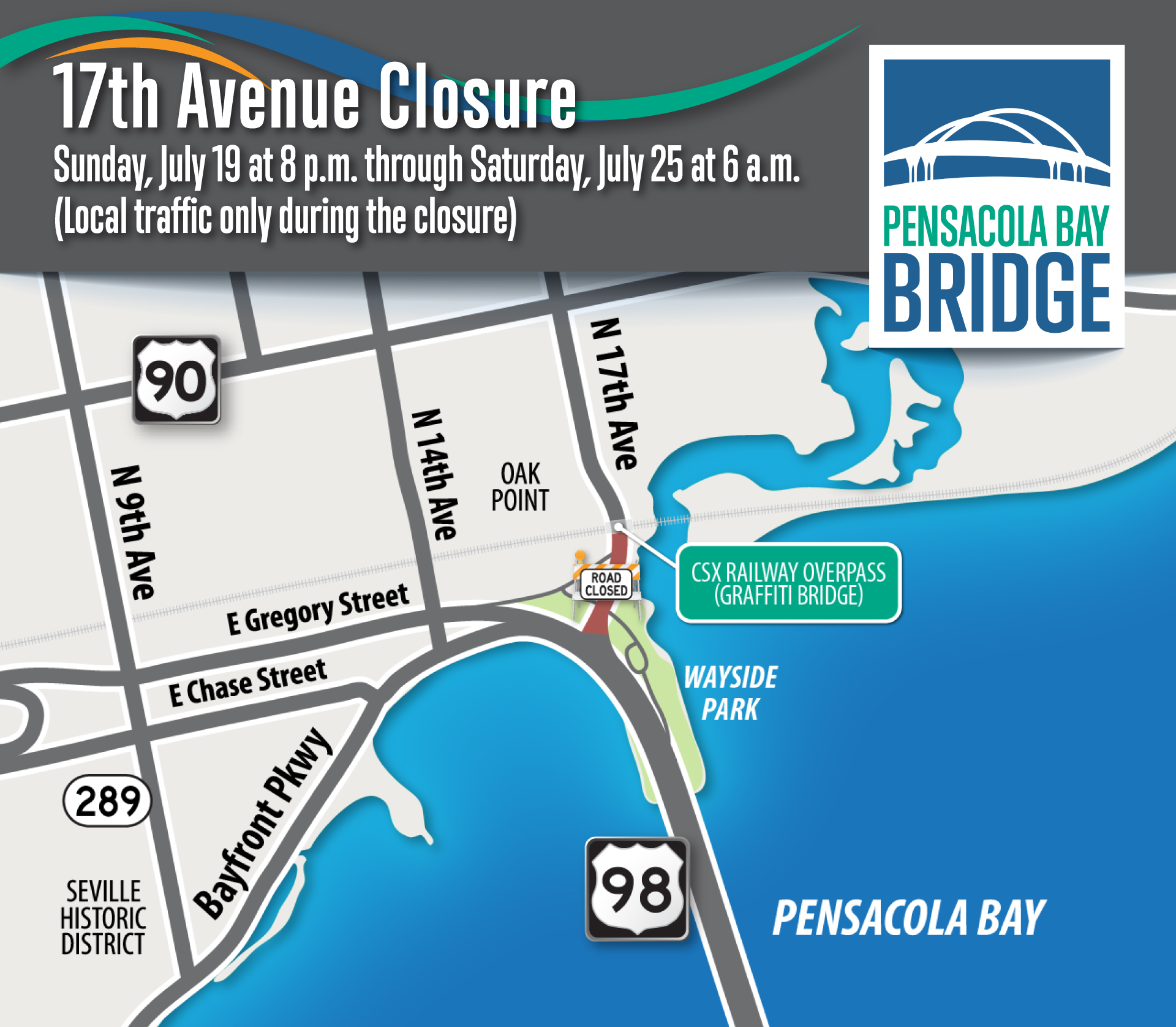 Seventeenth Avenue closure, July 19-25