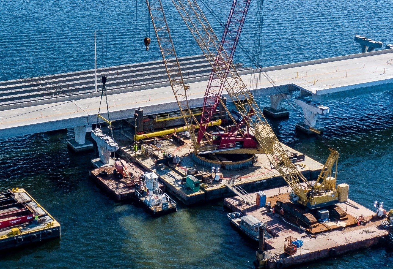 Crews readying to pour new concrete bridge decks