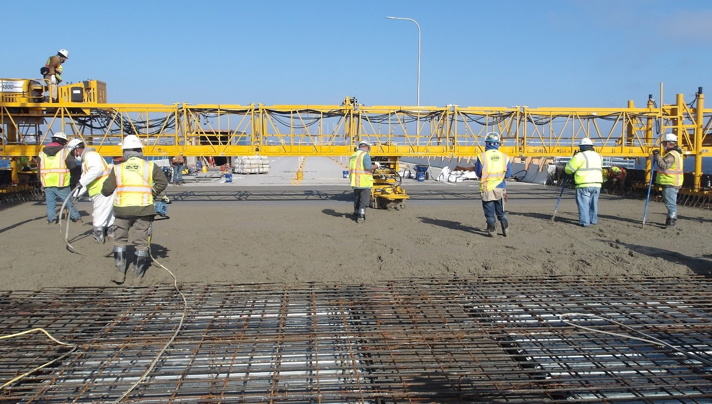First deck pour completed for Pensacola Bay Bridge repair project