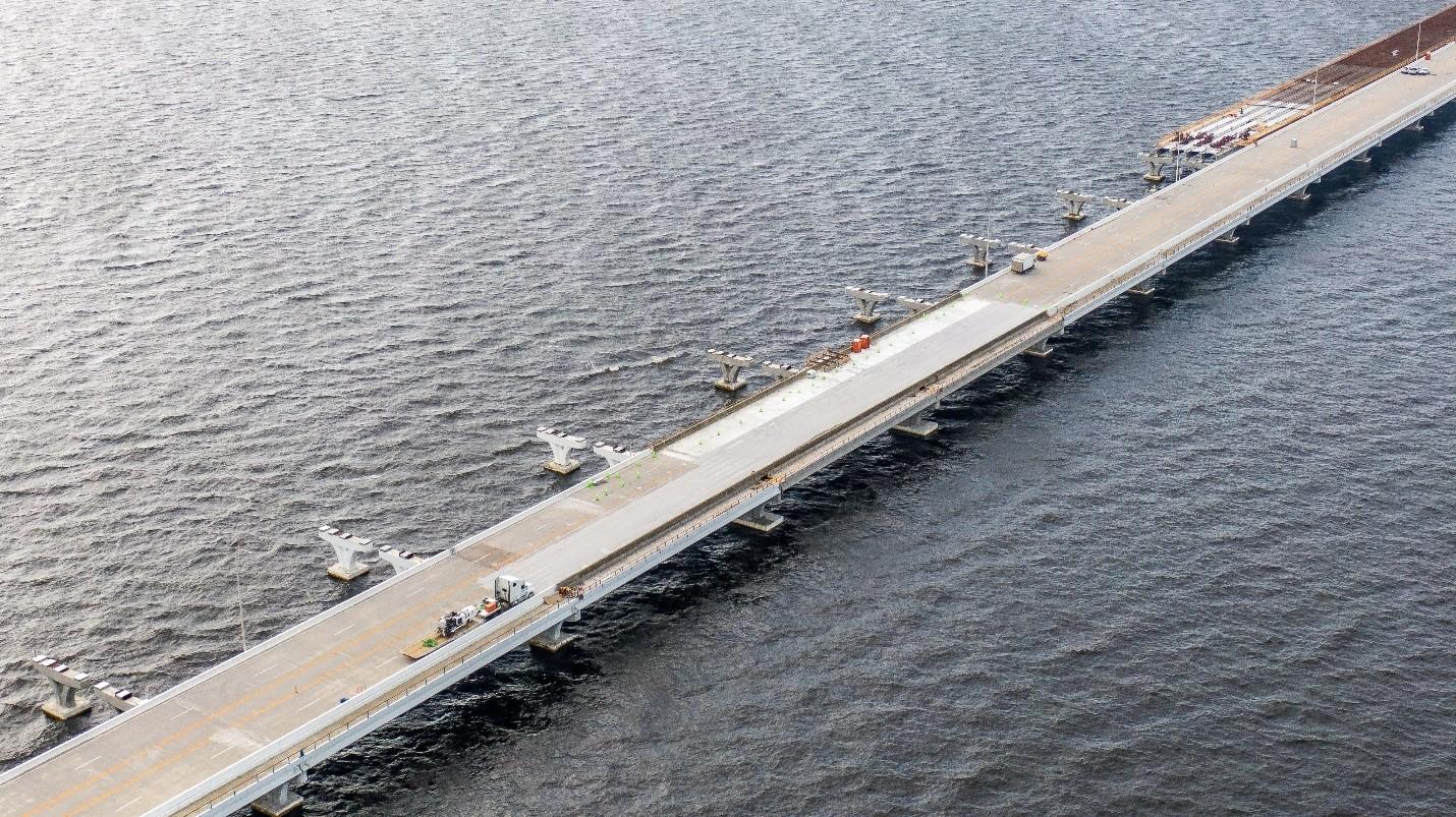 Bridge repair work nears completion
