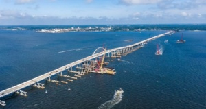 Lane closures continue to allow construction of the westbound bridge